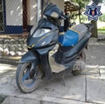 Aseguran tres motocicletas