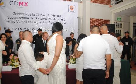 Celebró GCDMX 362 matrimonios en reclusorios durante 2017