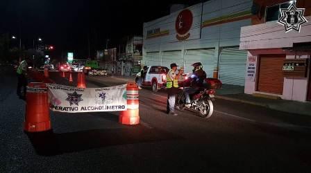 Finaliza Operativo Alcoholímetro con 78 pruebas realizadas, 35 positivas: Policía Vial Estatal