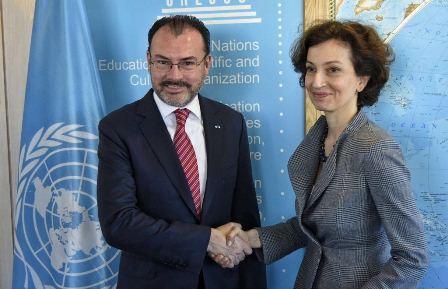 Titular de la SRE - directora General de la UNESCO