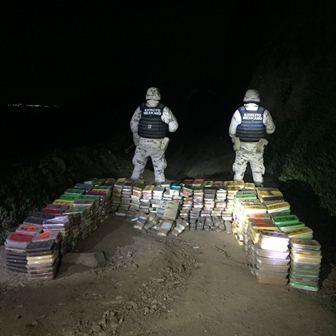 Aseguran cargamento de drogas