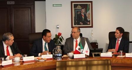 Acuerdan Pemex y Gobierno de Hidalgo trabajar juntos para detonar desarrollo en la entidad