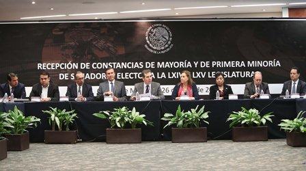 Recibe Senado constancias que acreditan a senadores electos a las LXIV y LXV legislaturas