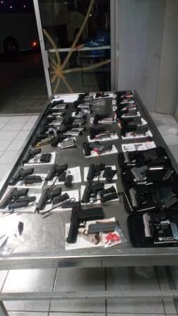 Asegura Ejército Mexicano 34 armas y 65 cargadores en Reynosa, Tamaulipas