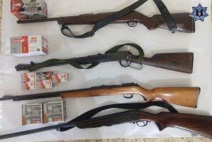 Armas aseguradas en la región del Istmo de Tehuantepec.