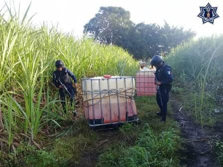 Aseguran mil 500 litros de hidrocarburo en la Cuenca del Papaloapan