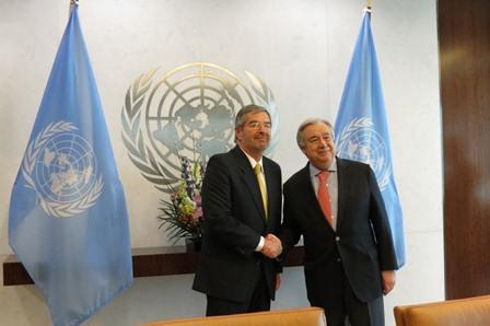 Presenta Juan Ramón de la Fuente cartas credenciales como representante permanente de México ante la ONU
