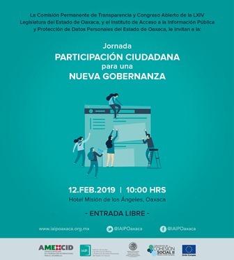 Impulsan IAIPO, INAI y Congreso de Oaxaca Jornada de Participación Ciudadana para una Nueva Gobernanza