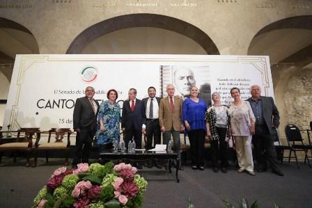 Rinde Senado homenaje al poeta y político Carlos Pellicer