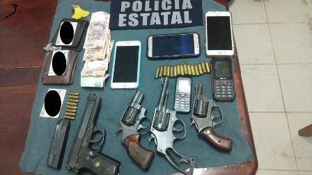 Detiene Policía Estatal a tres personas por portación ilegal de armas en Tuxtepec