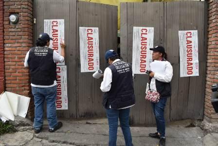 Frena alcaldía de Magdalena Contreras establecimientos mercantiles clandestinos