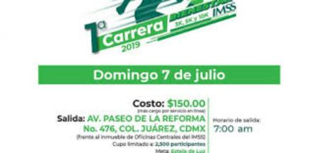 Primera Carrera Bienestar IMSS 2019