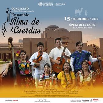 """Ofrecerá """"Alma de Cuerdas"""" de Oaxaca concierto en El Cairo, Egipto: Seculta"""