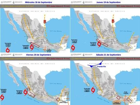 Cierran tres puertos a la navegación por Onda Tropical 39 y zona de inestabilidad: CEPCO