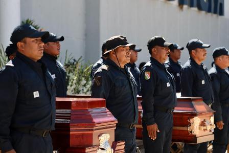 Reconoce Gobierno de Oaxaca valor, lealtad y compromiso de policías caídos en cumplimiento del deber